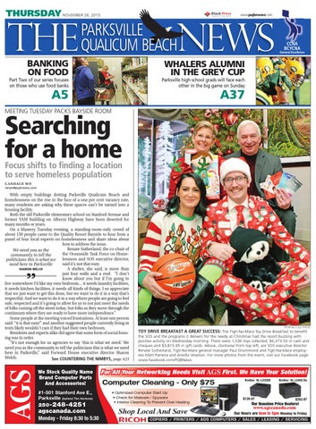 Parksville Qualicum Beach News, November 26, 2015 by Black Press