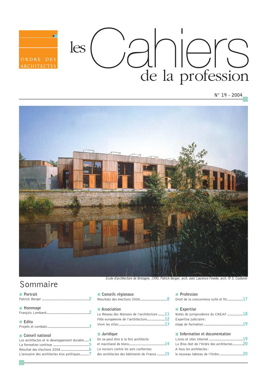 Cahiers De La Profession N19 By CNOA