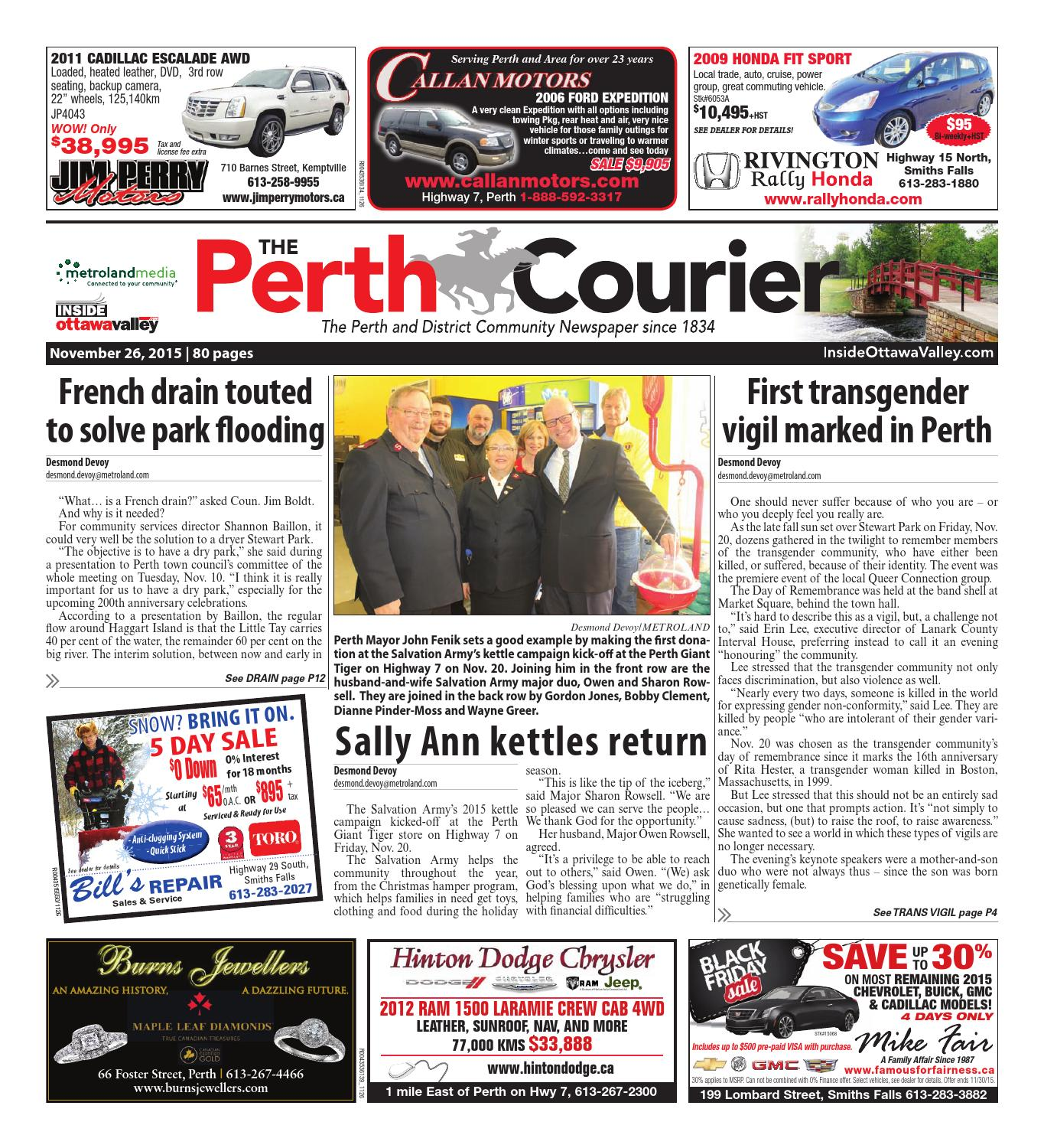 Perth112615 by metroland east the perth courier issuu fandeluxe Gallery