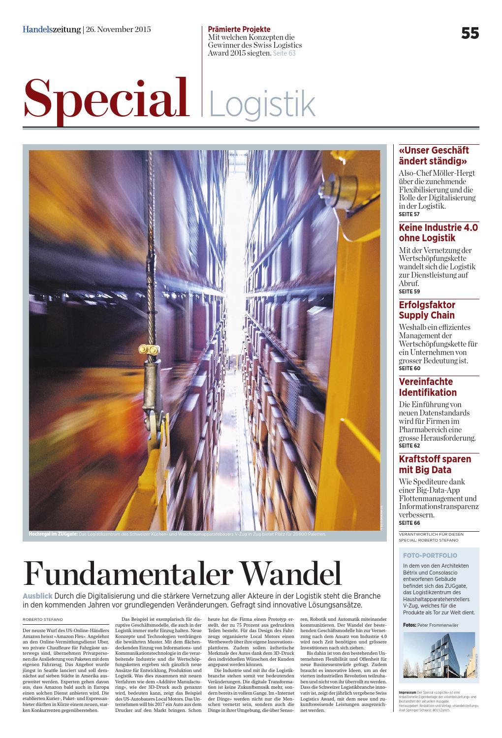 HZ Special «Logistik» November 2015 by Ringier Axel Springer Schweiz ...