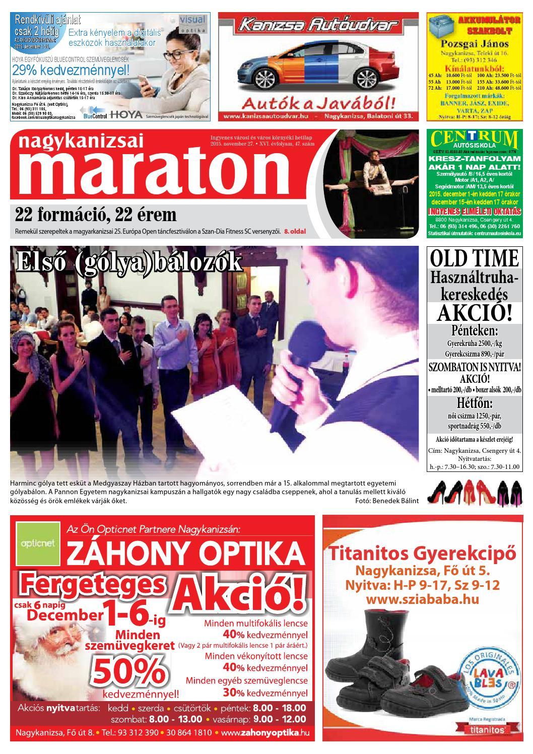Nagykanizsai Maraton - 2015. 11. 27. by Maraton Lapcsoport Kft. - issuu 86479e9645