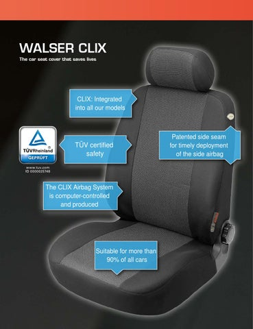 WALSER CLIX The Car Seat Cover That Saves Lives