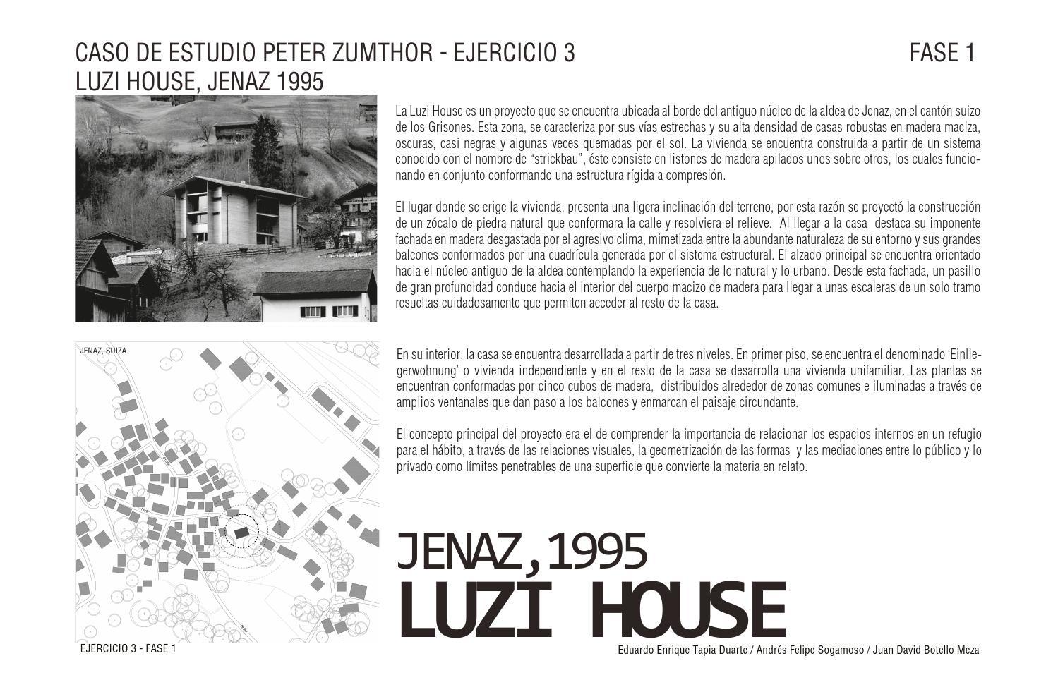 Luzi house by Eduardo Tapia Duarte - issuu
