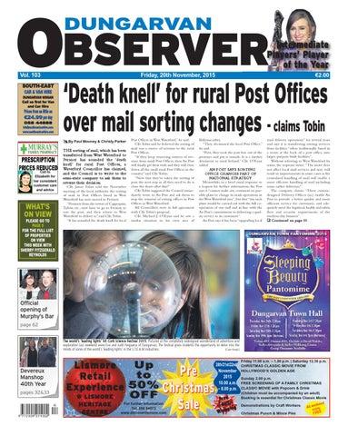 Dungarvan Observer 20 11 2015 Edition By Dungarvan Observer Issuu