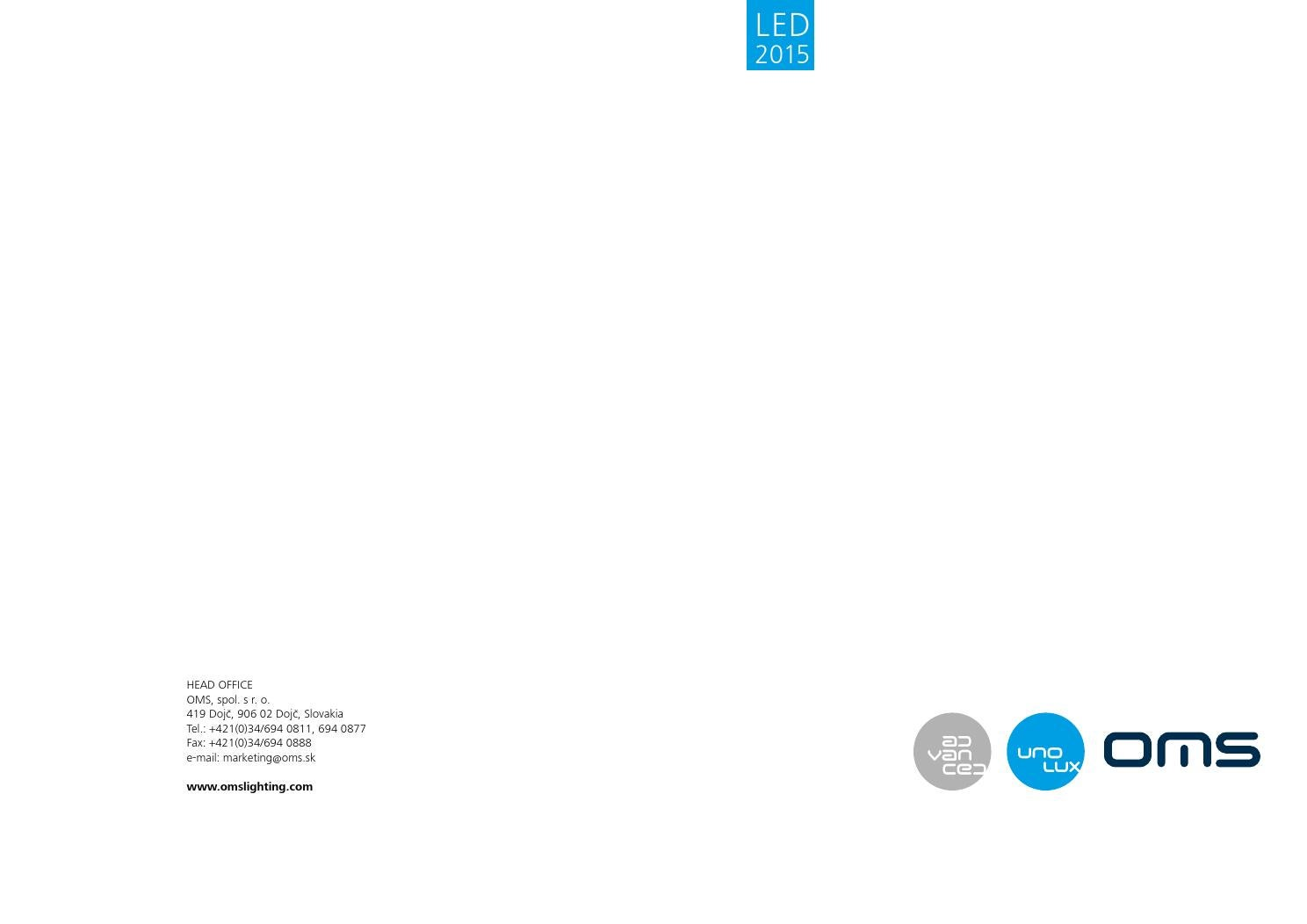Oms Led Catalogue 2015 By Right Light Issuu