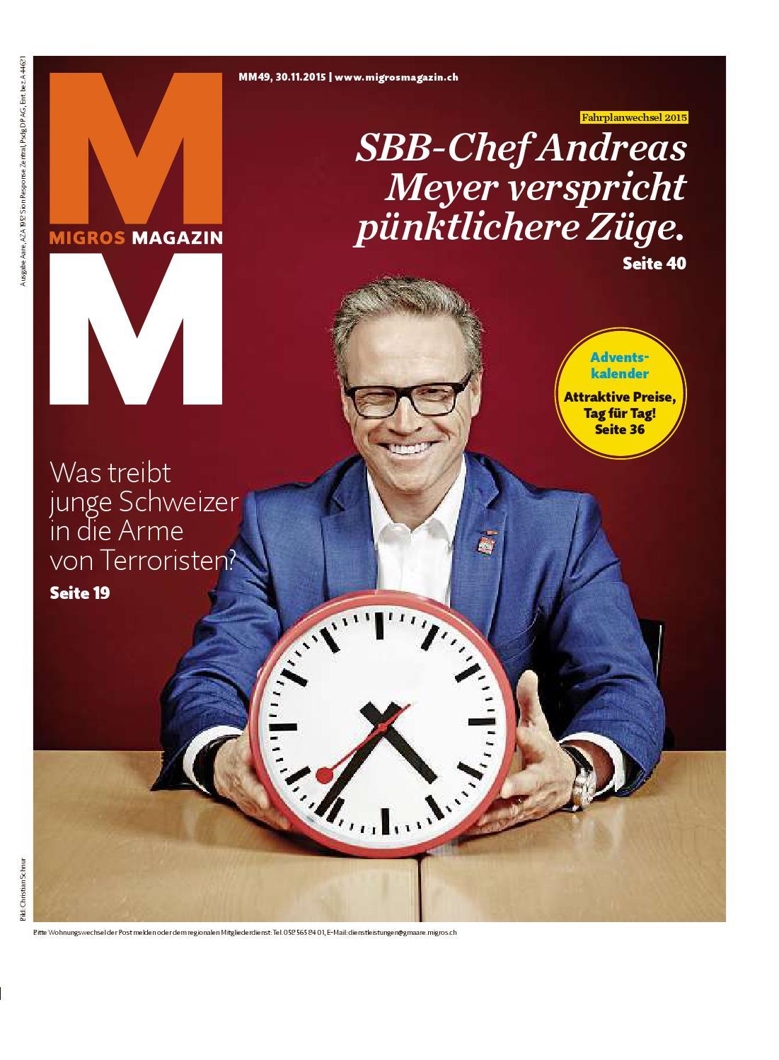 Migros Magazin 49 2015 D Aa By Migros Genossenschafts Bund Issuu