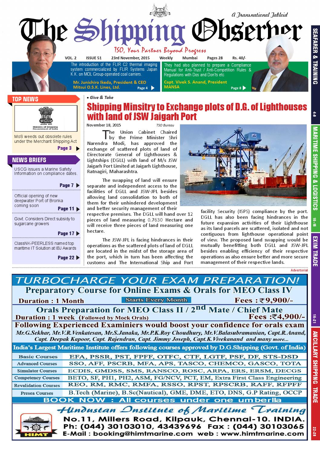 THE SHIPPING OBSERVER V2 issue51 23 11 15 by The Shipping