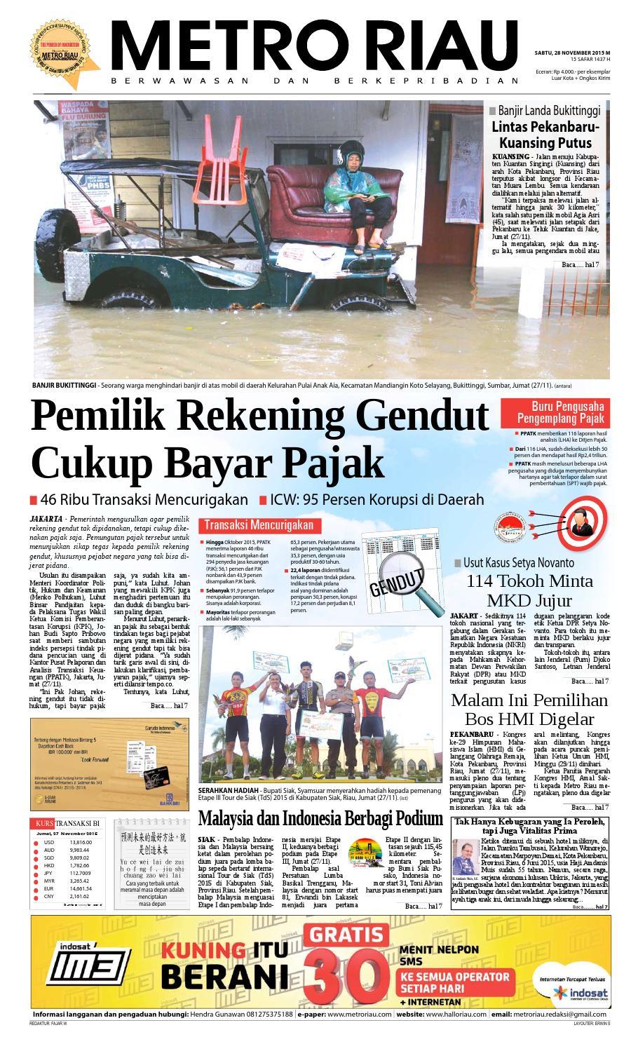 28112015 By Harian Pagi Metro Riau Issuu