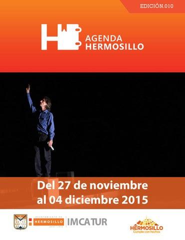 """Cover of """"Agenda Hermosillo del 27 de noviembre al 4 de diciembre"""""""