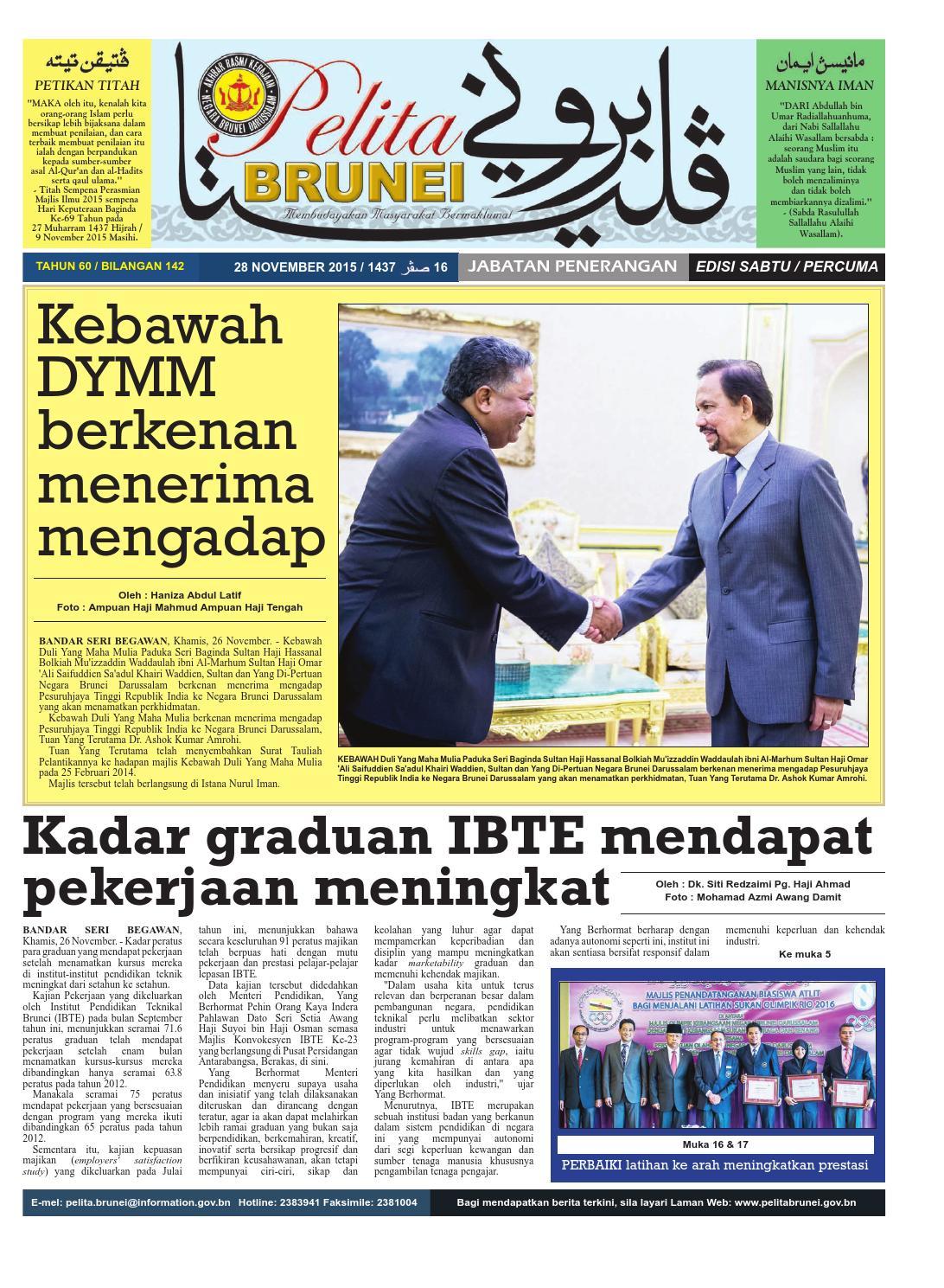 Pelita Brunei Sabtu 28 Nov 2015 By Putera Katak Brunei Issuu