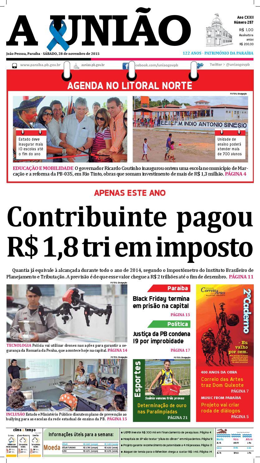 d2f5b2567f4 Jornal A União - 28 11 2015 by Jornal A União - issuu