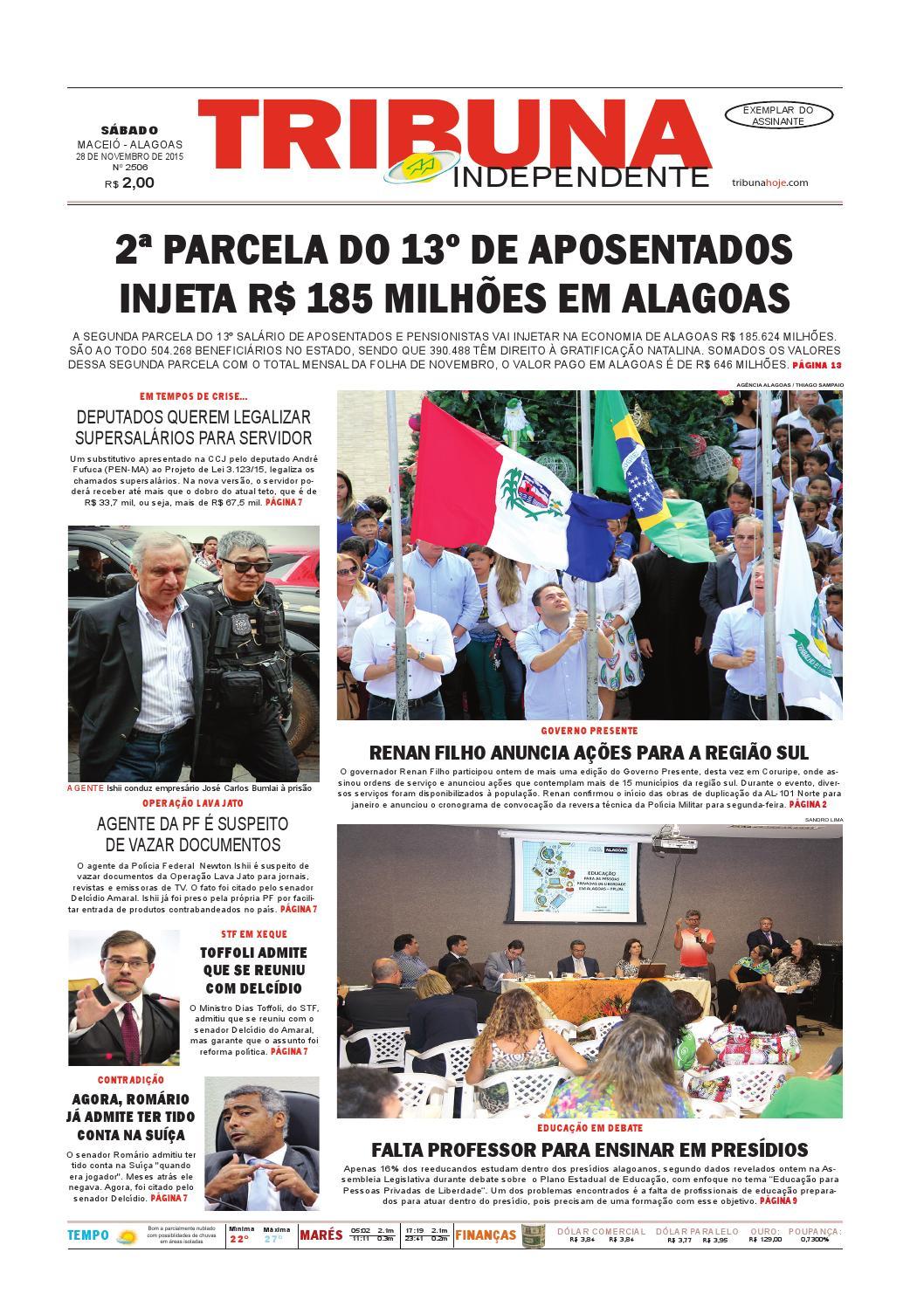 2ac834a76c9c0 Edição número 2506 - 28 de novembro de 2015 by Tribuna Hoje - issuu
