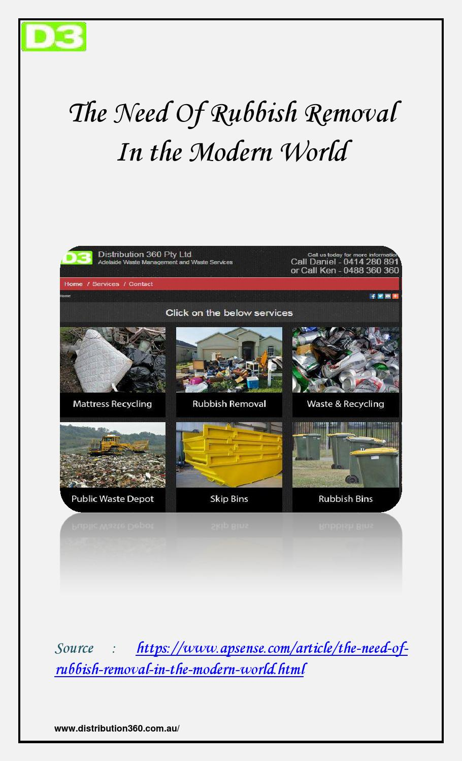 Rubbish Removal In the Modern World by Daniel Favelle - issuu