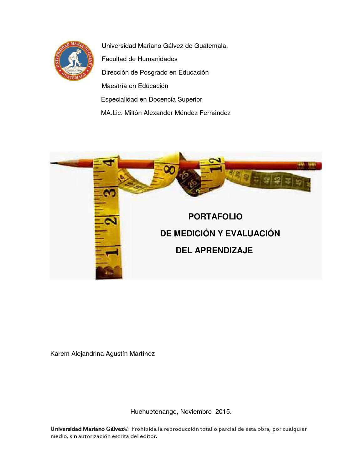 Portafolio digital de documentos de medición y evaluación del ...