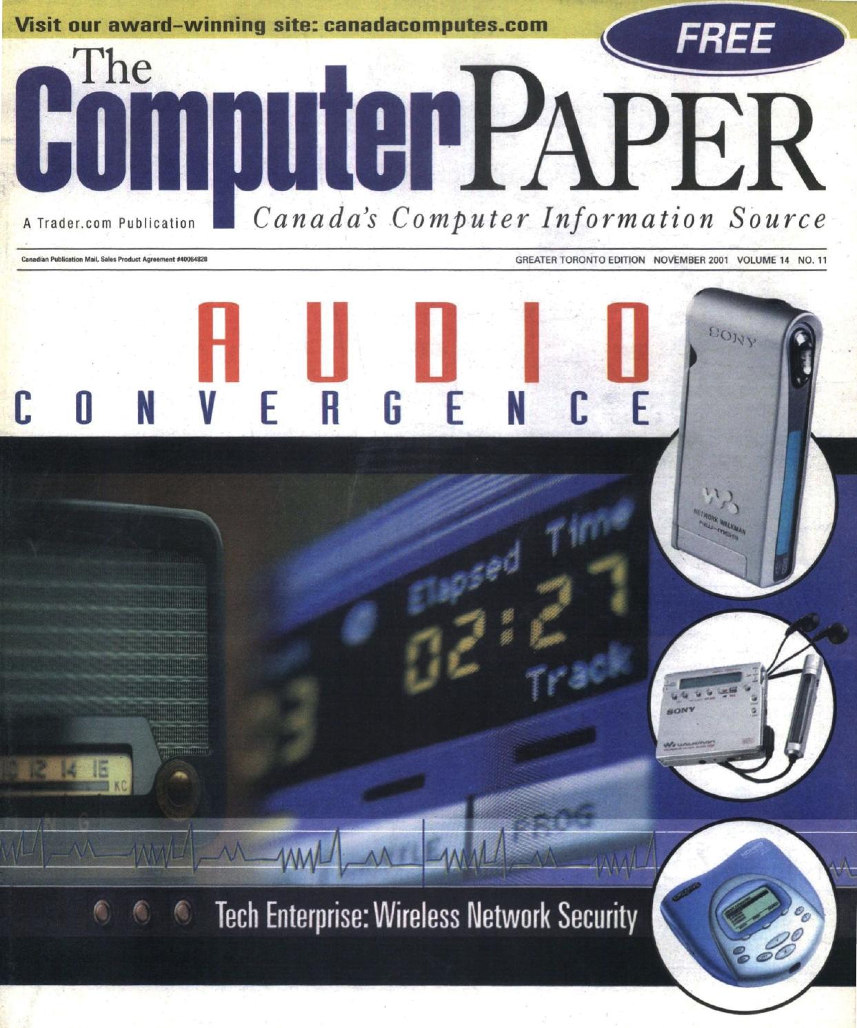 2001 11 The Computer Paper Ontario Edition By Headset Earphone Sport Fonge Mic Headphones Fg S500 Issuu