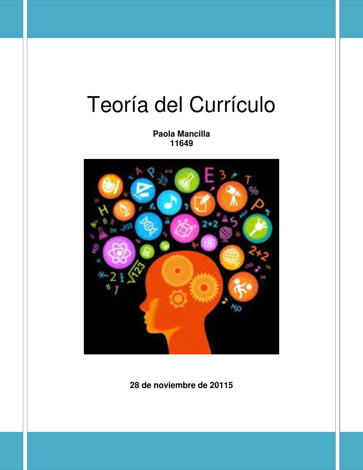 Libro teoría del currículo by Paolamc24 - issuu