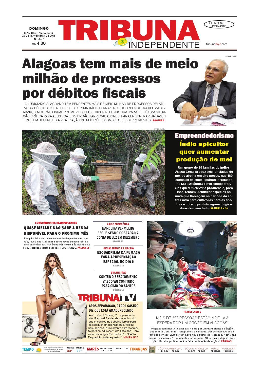 2c23c9b80dad4 Edição número 2507 - 29 de novembro de 2015 by Tribuna Hoje - issuu