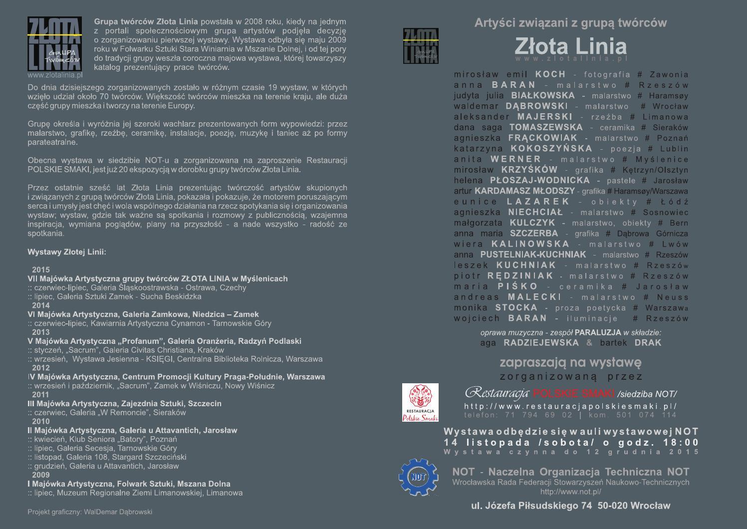 Invitation Folder An Exhibition Wroclaw 2015 Not Polish