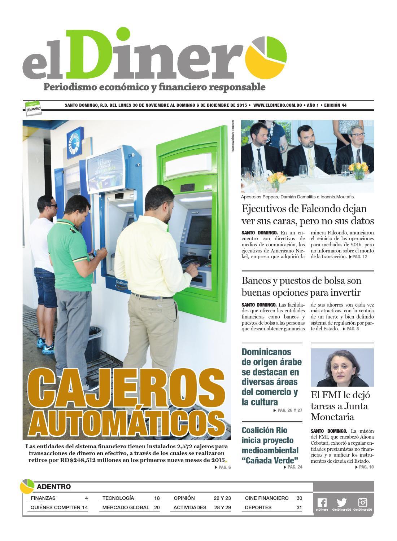 Periódico elDinero (44) 30/11/2015 by Periódico elDinero - issuu