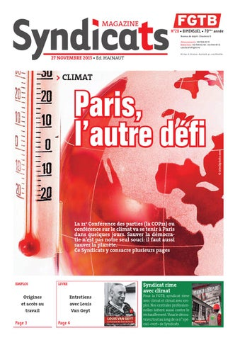 Syndicats Fgtb N 20 27 Novembre 201 By Fgtb Issuu