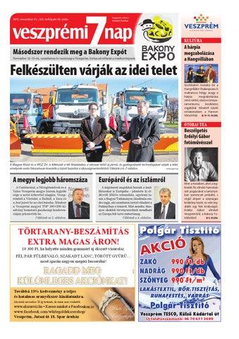 Veszprémi 7 Nap - 2015. 11. 13. by Maraton Lapcsoport Kft. - issuu cab9571f45