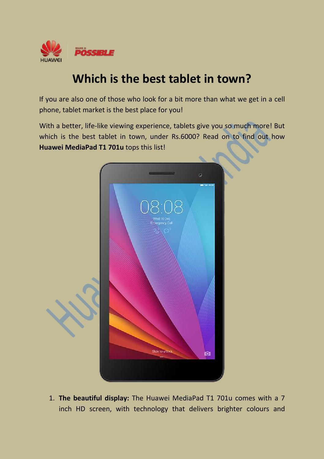 Which is the best tablet in town? by Huawei Device India - issuu