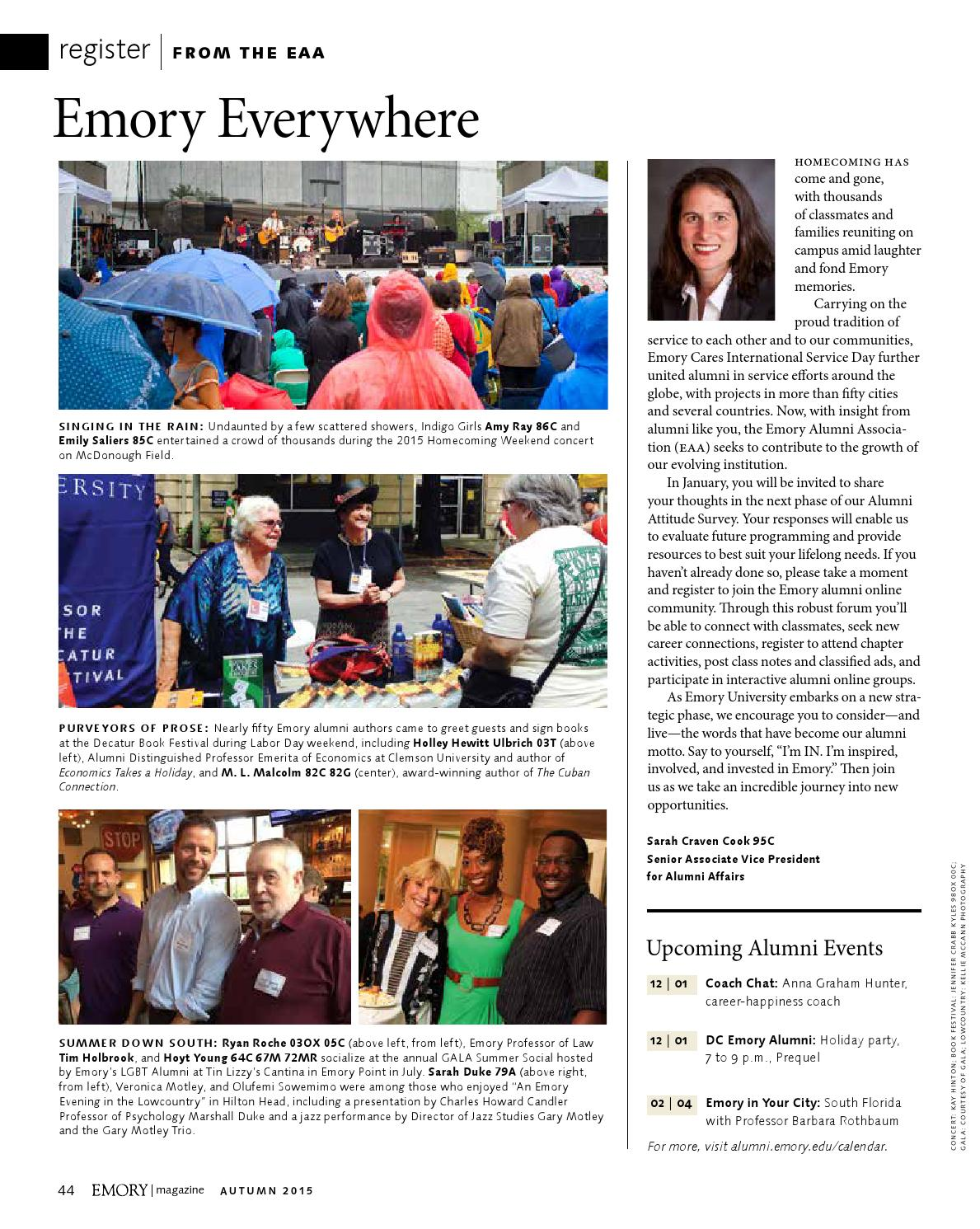 Emory Calendar.Emory Magazine Autumn 2015 By Emory University Issuu