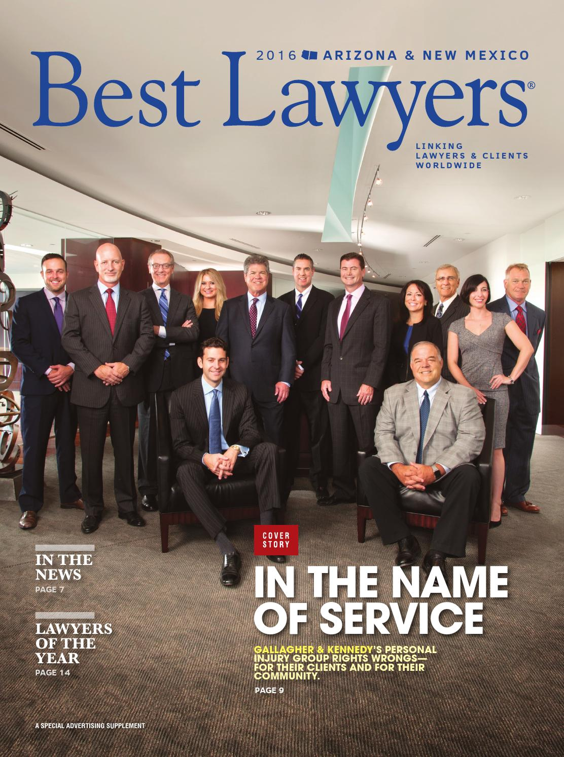 Personal Injury Lawyer Tucson >> Best Lawyers in Arizona & New Mexico 2016 by Best Lawyers - Issuu