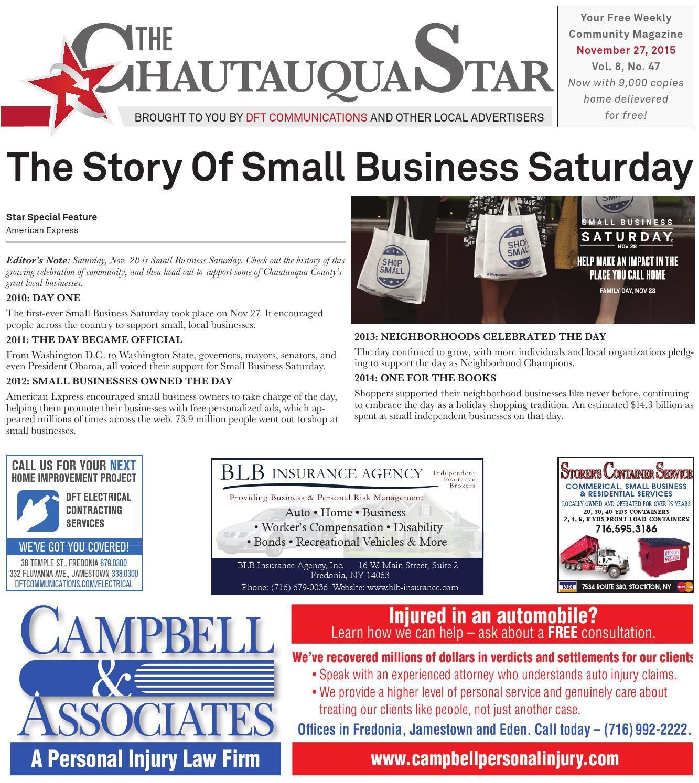 Chautauqua Star, November 27, 2015 by The Chautauqua Star