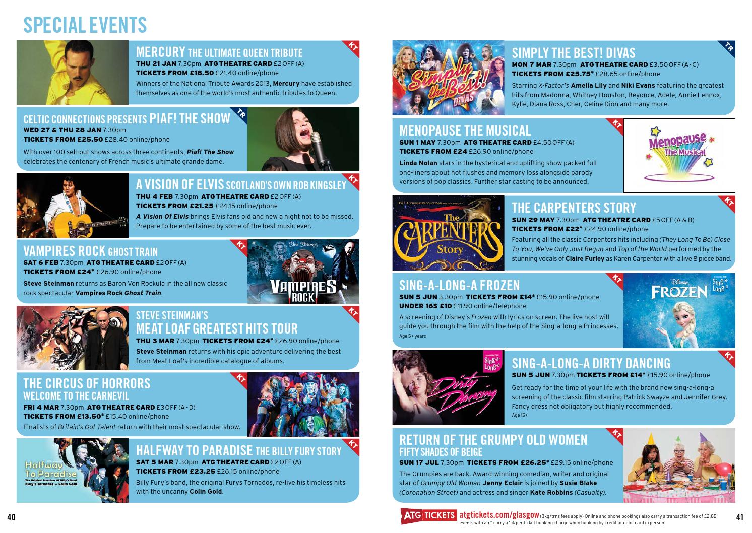 Glasgow Kings Theatre & Theatre Royal Brochure Spring 2016