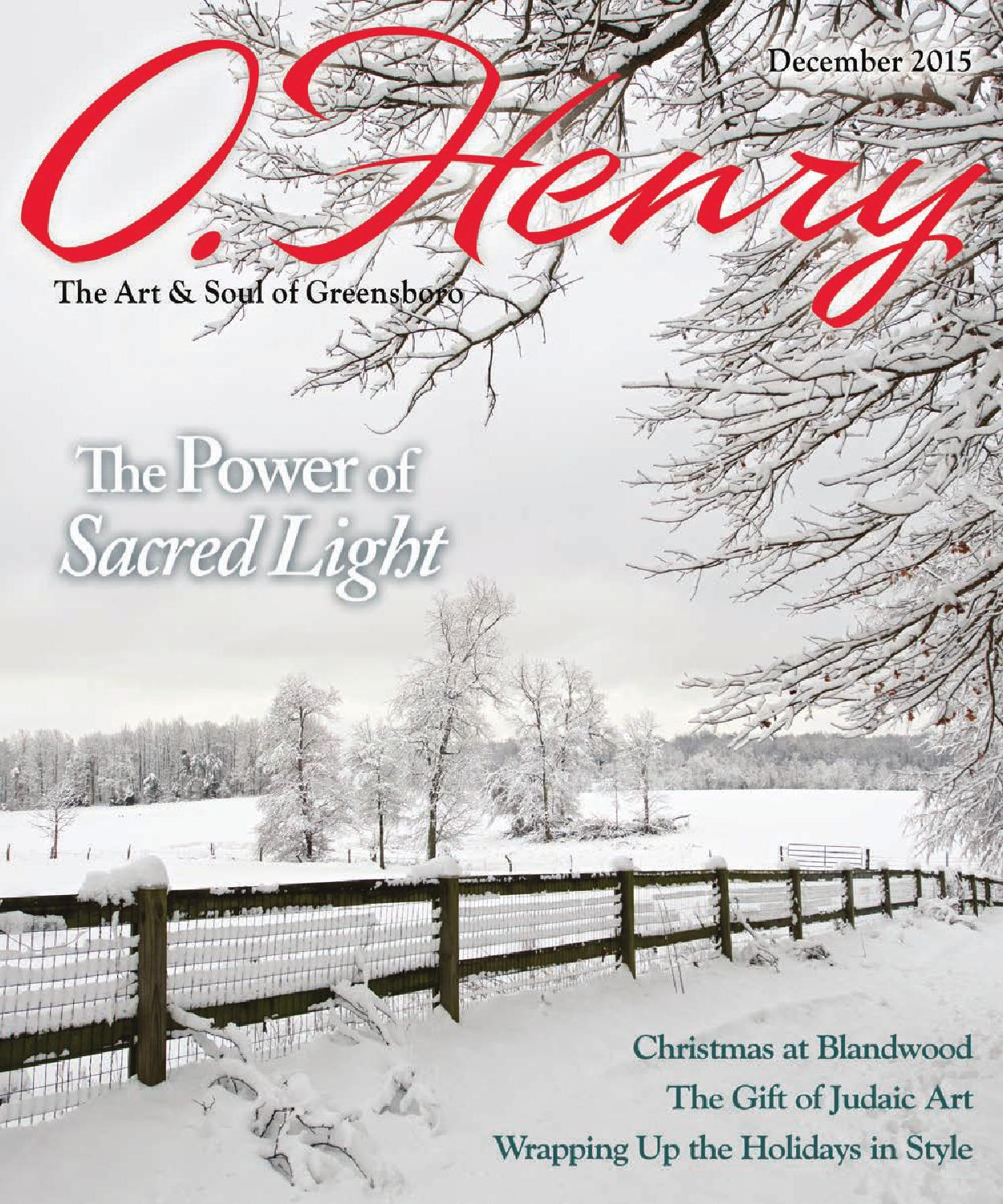 O.Henry December 2015 by O.Henry magazine - issuu