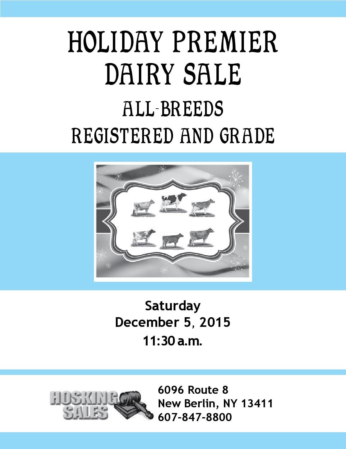 Holiday Premier All-Breeds Sale   Sat , Dec  5, 2015