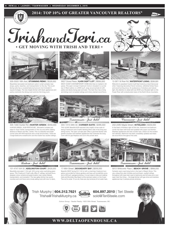 bd3a1af9c9 LADNER / TSAWWASSEN Dec 2, 2015 Real Estate Weekly by Real Estate ...