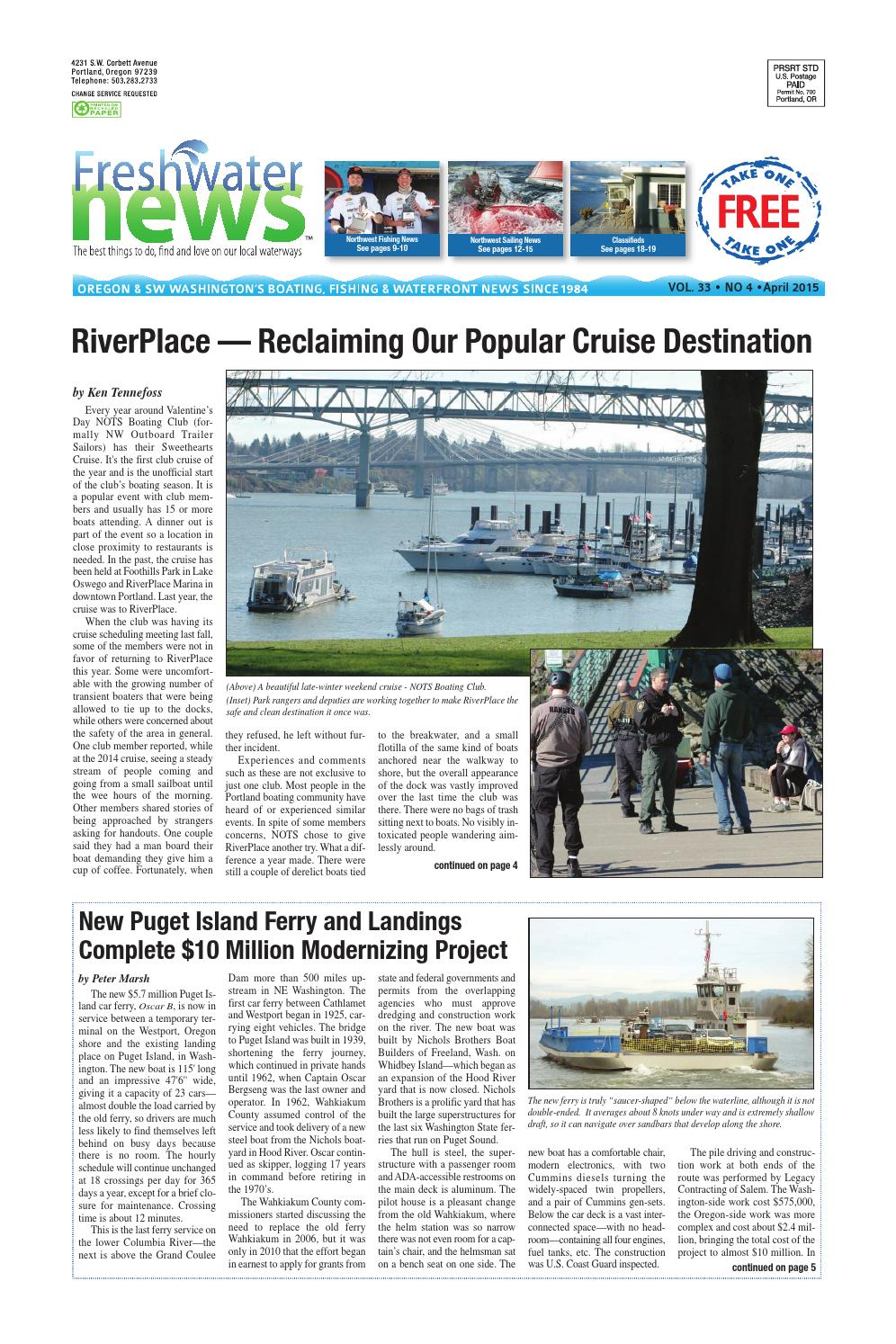 Freshwater News April 2015 By Issuu 120v Heat Tape Wiring Furthermore Toy Train Layout Further