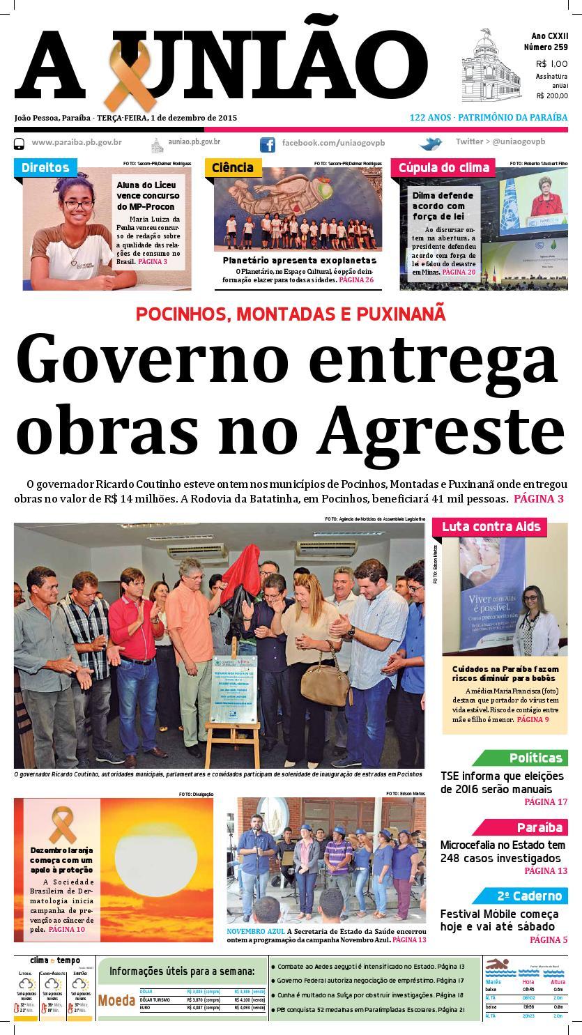 517f15d43b0 Jornal A União - 01 12 2015 by Jornal A União - issuu