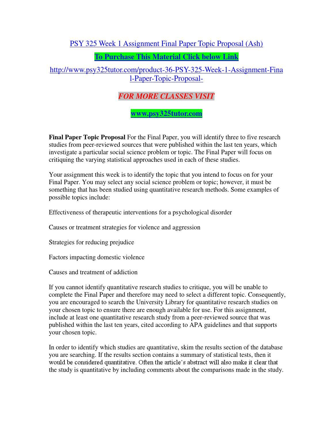 quantitative research paper topics