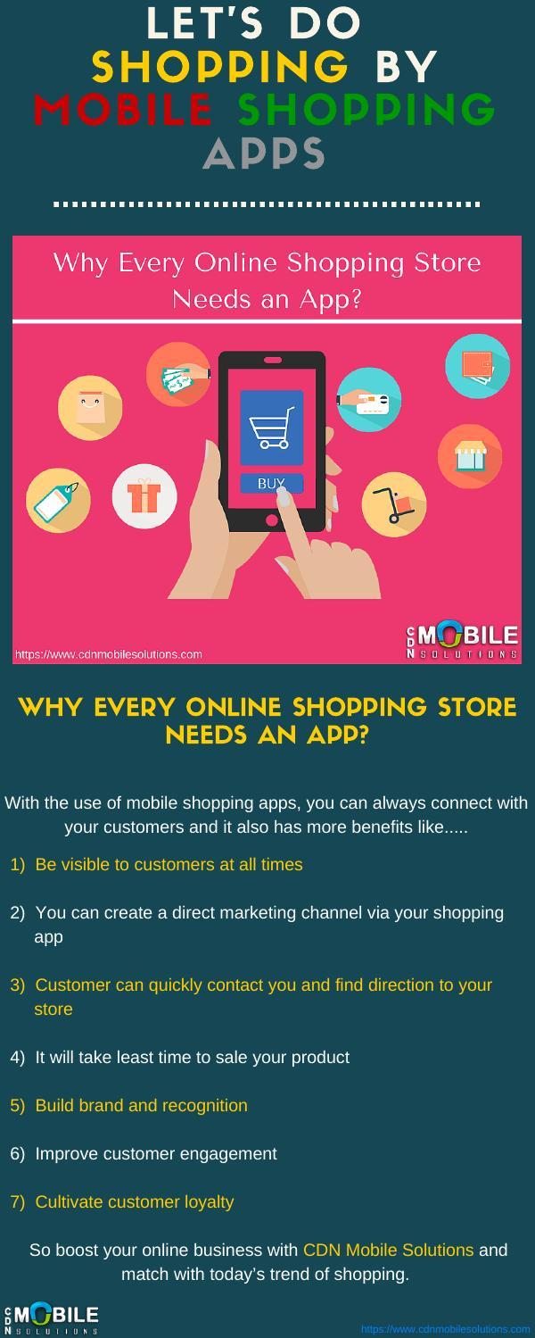 Why Online Business Needs Mobile Shopping Apps? by CDN