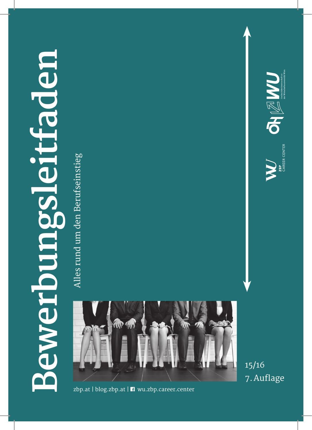 Bewerbungsleitfaden by WU ZBP Career Center - issuu