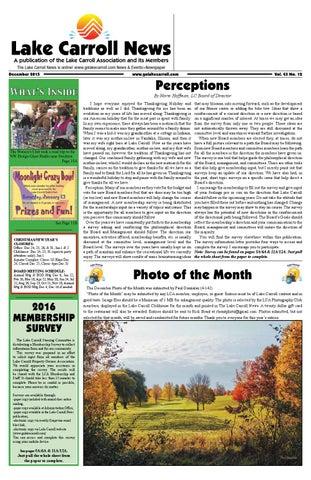 8d7cd375802 Lake Carroll News December 2015 by Lake Carrol News - issuu