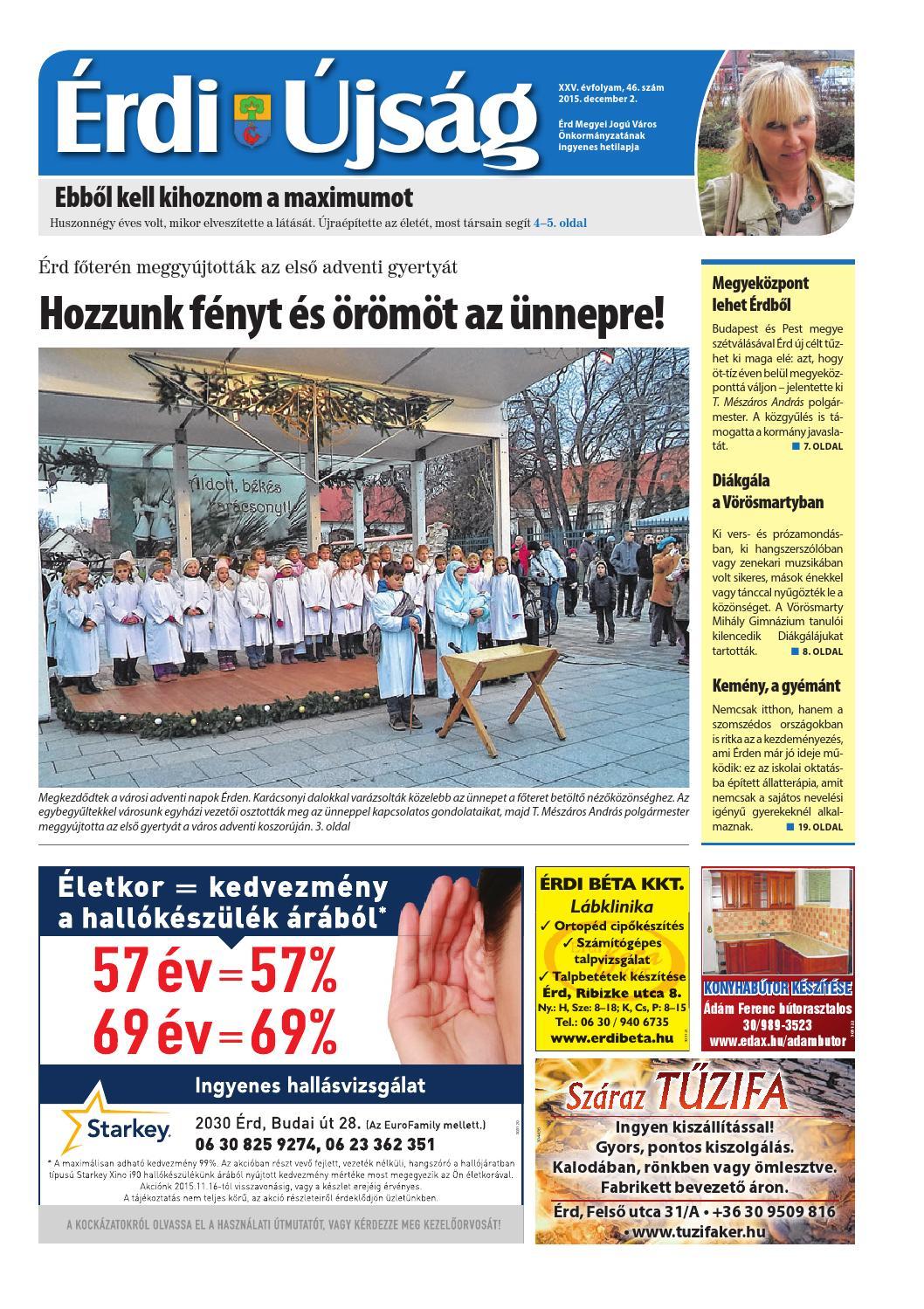 Érdi Újság - 2015. 12. 02. by Maraton Lapcsoport Kft. - issuu dd7b9d161e