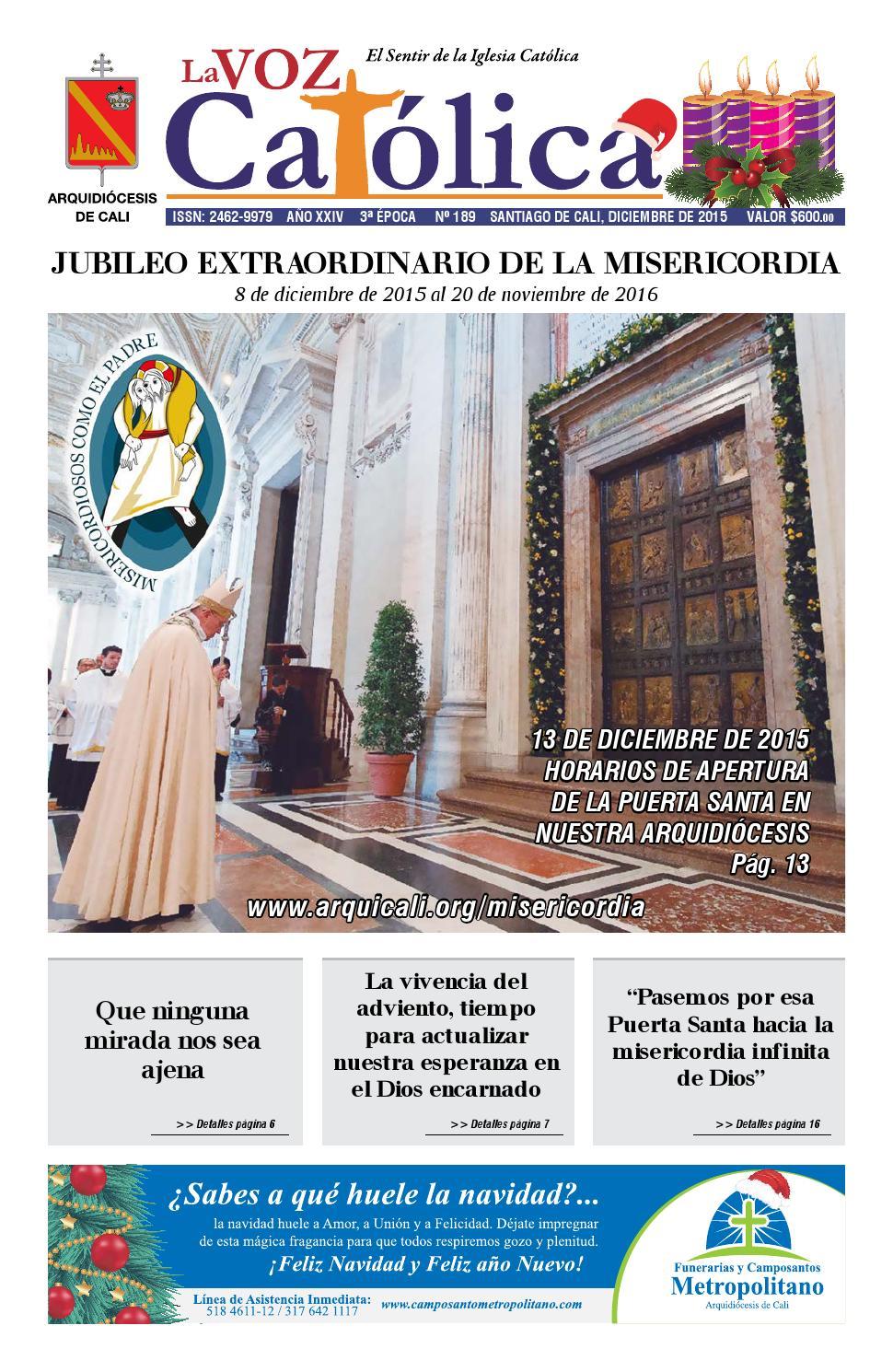 La Voz Católica Diciembre 2015 by Arquidiocesis de Cali - issuu