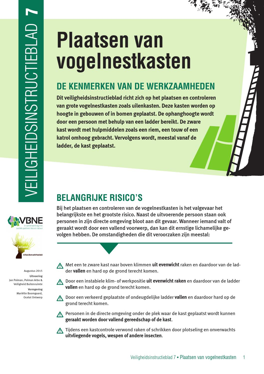 Instructieblad 7 Nestkasten Plaatsen By Vbne Issuu