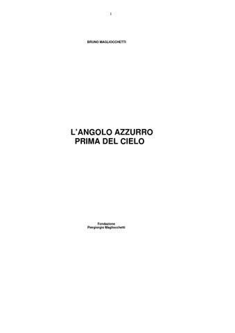 L  angolo azzurro prima del cielo by BRUNO MAGLIOCCHETTI - issuu 78e83d096d8f