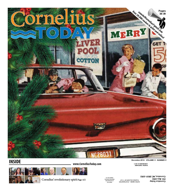 Cornelius Today December 2015 by Business Today Cornelius Today