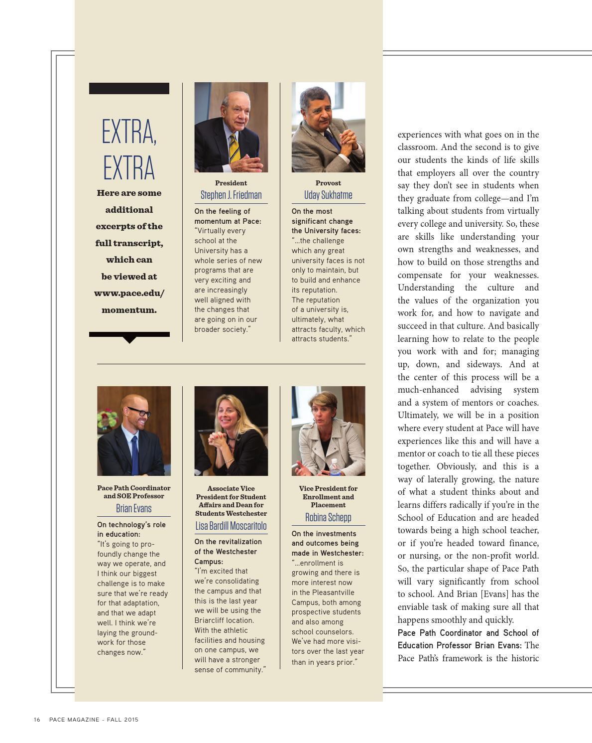 Pace Magazine Fall 2015 by URMarketing - issuu
