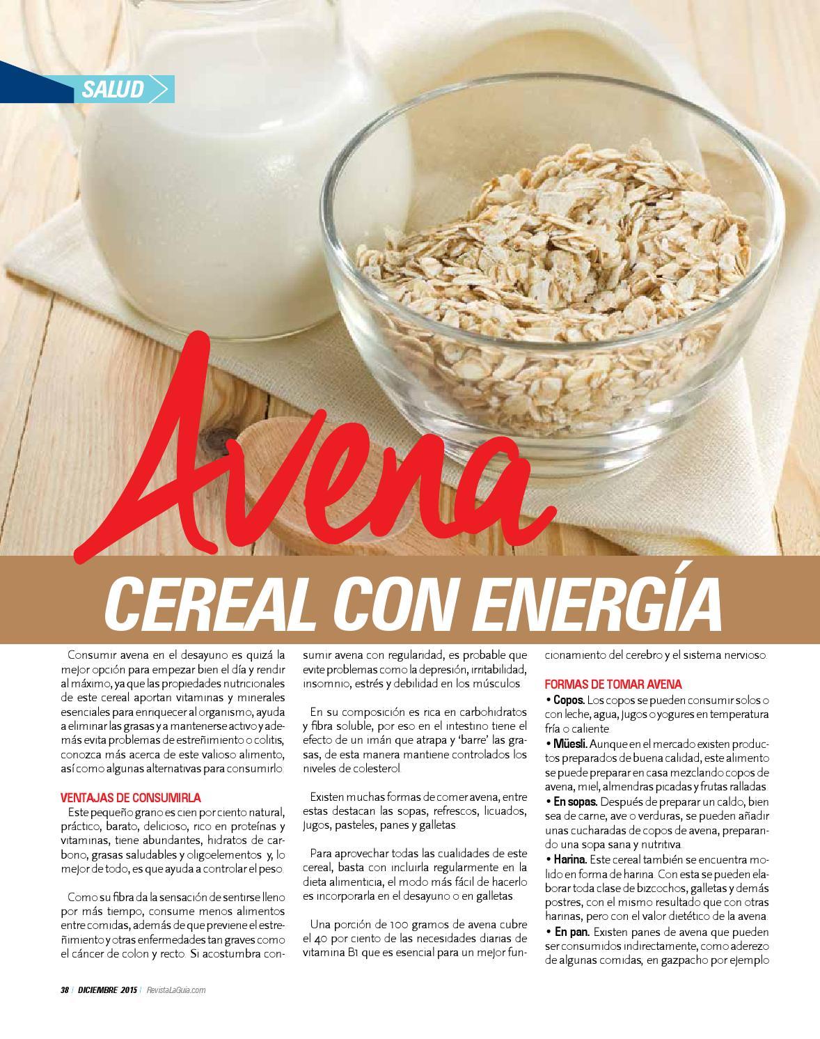 Tipos de cereales para licuados