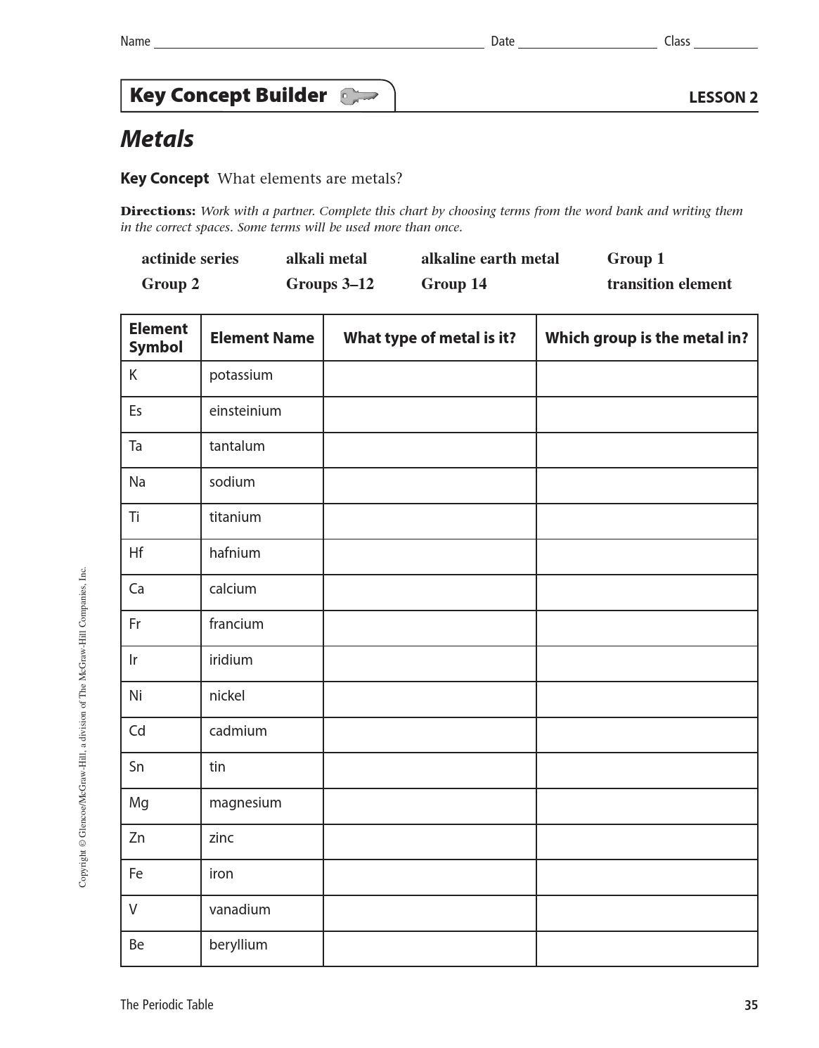 Key concept builder lesson 2 answers
