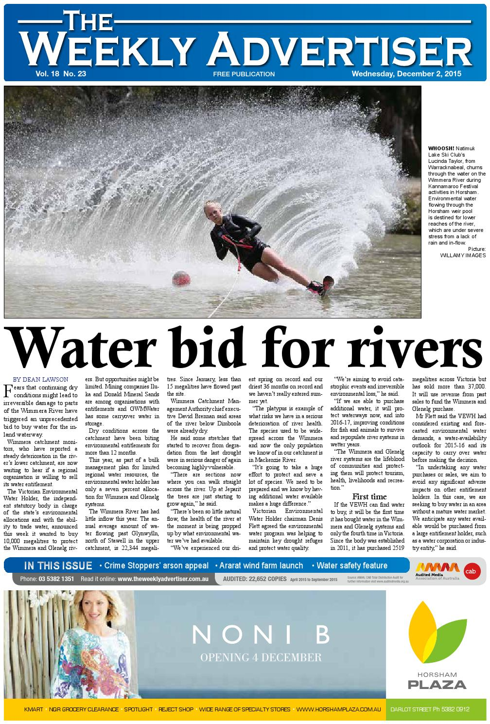 The Weekly Advertiser Wednesday December 2 2015 By The Weekly
