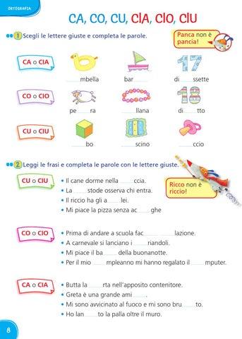 Il mio superquaderno 2 italiano by amelie issuu for Parole con la gi