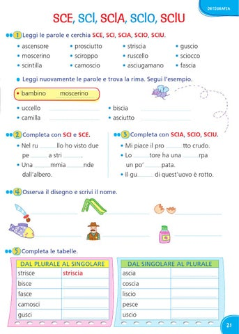 Il mio superquaderno 2 italiano by amelie issuu for Frasi con sci sce
